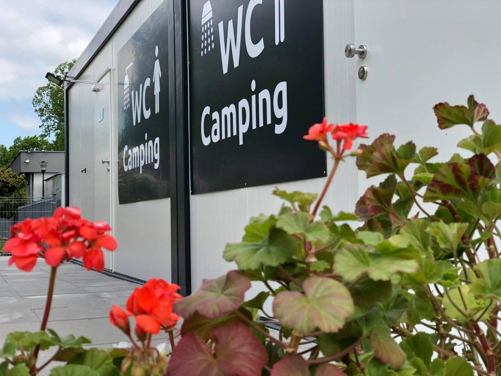 Nowe sanitariaty przeznaczone wyłącznie dla gości naszego pola namiotowego