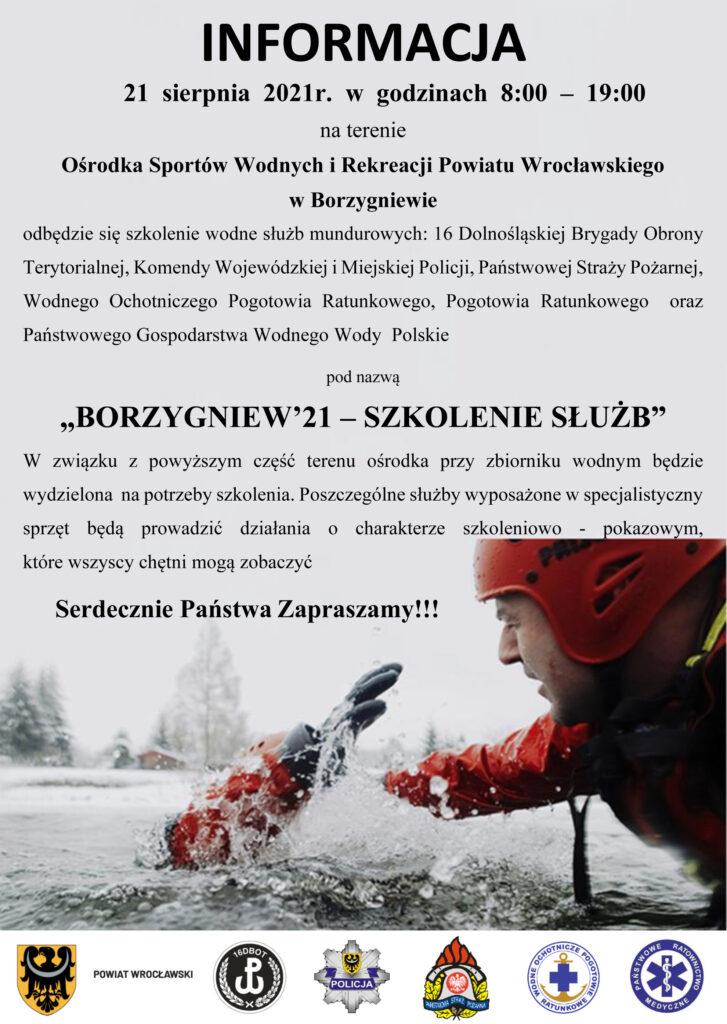 Szkolenie wodne służb mundurowych – 21  sierpnia  2021 r.